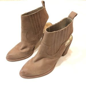 Dolce Vita taupe leather booties